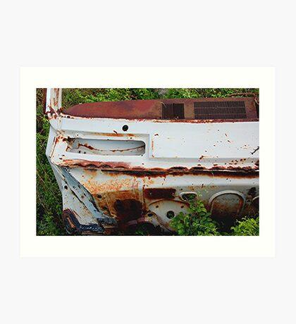 Rusty old car Art Print
