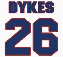National football player Donald Dykes jersey 26 by imsport