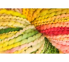 Bright colorful yarn Photographic Print