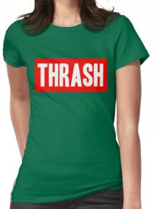 Thrash red Womens Fitted T-Shirt