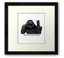 Sloth Framed Print