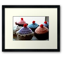 Knitted Cakes  Framed Print