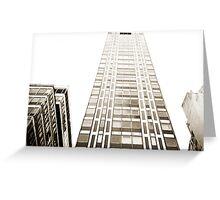 Tall Building Lomo Argentina Greeting Card