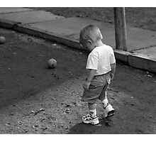 Too Little To Play Photographic Print