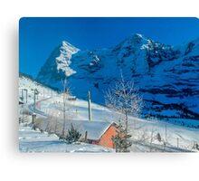 Eiger Winter Scene Canvas Print