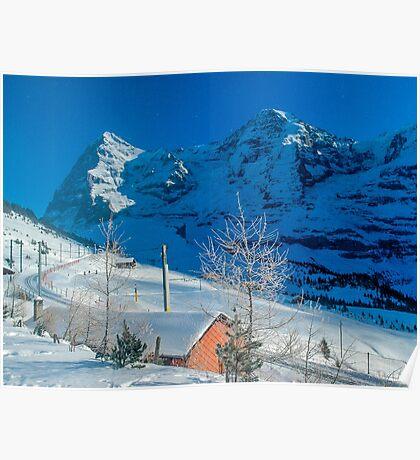 Eiger Winter Scene Poster