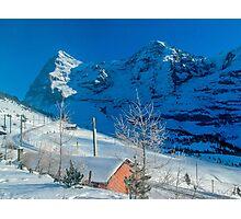 Eiger Winter Scene Photographic Print