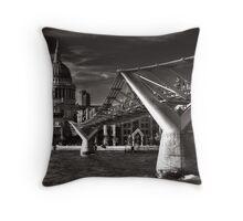 Bridge to St. Paul's Throw Pillow