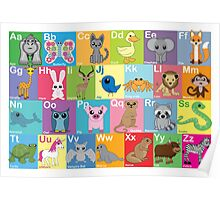 The Animal Alphabet Poster