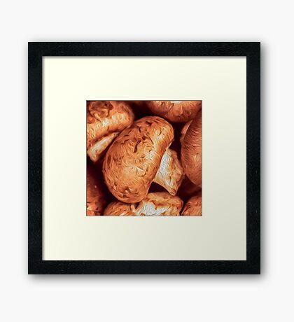 Impressionist Accent Art - Mushrooms Framed Print