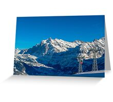 Faulhorn Winter Scene Greeting Card