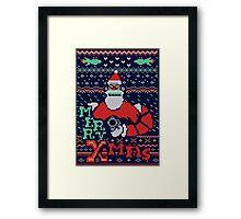 Merry Robo X-mas Framed Print