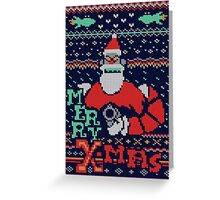 Merry Robo X-mas Greeting Card