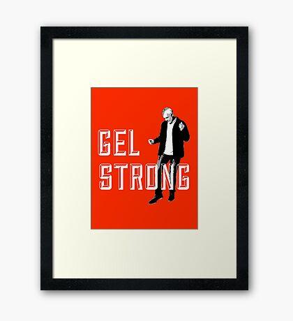 Gel Strong - Knockout Framed Print