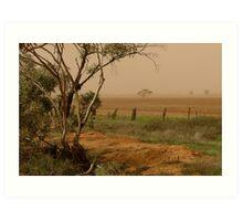 Mallee Dust - Red Cliffs, Vic Art Print