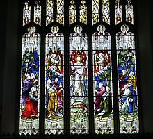 Stained Glass, Hawkshead Church by Tom Gomez