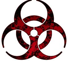Biohazard - Red & Black Symbol  by phenommachine