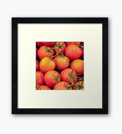Impressionist Accent Art - Heirloom Tomatoes Framed Print
