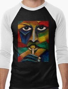 Miles Davis (abstract)  Men's Baseball ¾ T-Shirt