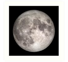 The Full Moon - HD Photo Of the Moon -  Art Print