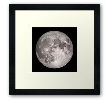 The Full Moon - HD Photo Of the Moon -  Framed Print
