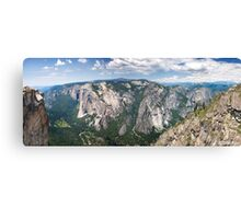 Yosemite Valley From Taft Point Canvas Print