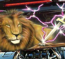 Lion of Judah bikeart by Airbrushr  Rick Shores