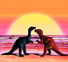 Dino Love by SRowe Art