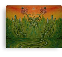 Coneflower Reflection Canvas Print