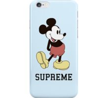 Classic Supreme Mickey Mouse iPhone Case/Skin