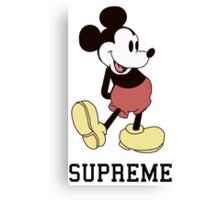 Classic Supreme Mickey Mouse Canvas Print
