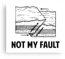 Not My Fault Canvas Print
