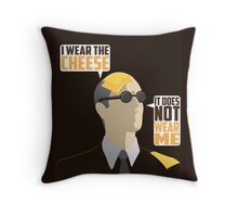 I Wear The Cheese Throw Pillow
