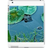 Alligator in the lily pads- Everglades iPad Case/Skin