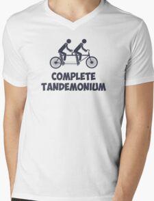 Tandem Bike Complete Tandemonium Mens V-Neck T-Shirt