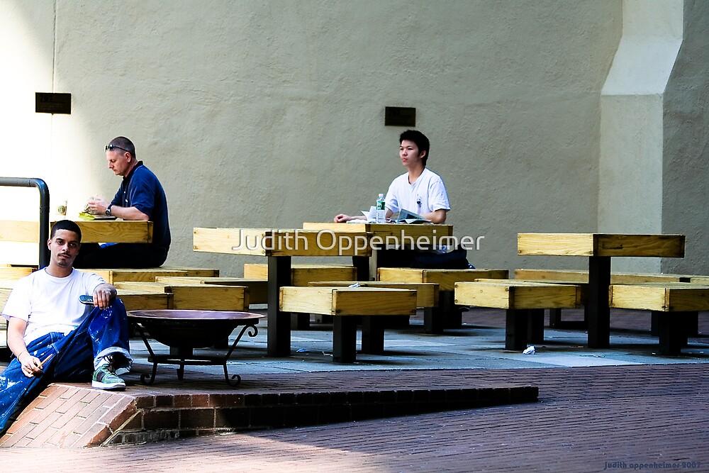 Three Men Squared by Judith Oppenheimer