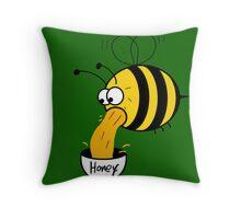 Making of Honey Throw Pillow