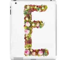 Capital Letter E Part of a set of letters, Numbers and symbols  iPad Case/Skin