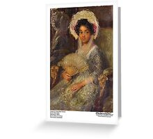Portrait of a Young Black Woman Greeting Card