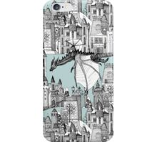 Dragon Kingdom Winter Toile blue iPhone Case/Skin