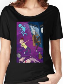 Rick and Morty - Doctor Who Mash Up!  Women's Relaxed Fit T-Shirt