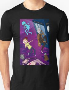 Rick and Morty - Doctor Who Mash Up!  T-Shirt