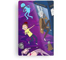 Rick and Morty - Doctor Who Mash Up!  Metal Print