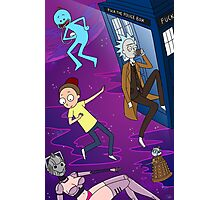 Rick and Morty - Doctor Who Mash Up!  Photographic Print