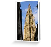 Antwerp Our Lady Cathedral's spire Greeting Card