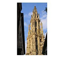 Antwerp Our Lady Cathedral's spire Photographic Print