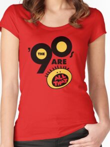 90's Are All That Women's Fitted Scoop T-Shirt