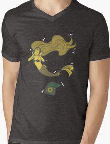 The Vinyl Mermaid Mens V-Neck T-Shirt