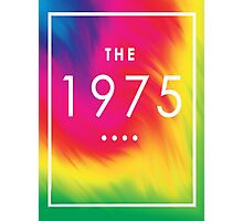 The 1975 — White Logo on Rainbow  Photographic Print