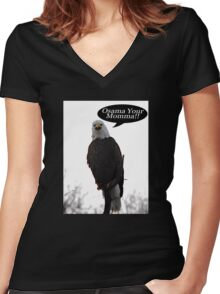 Find Osama Women's Fitted V-Neck T-Shirt